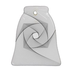 Rotation Rotated Spiral Swirl Ornament (bell)