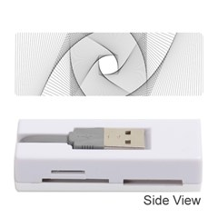 Rotation Rotated Spiral Swirl Memory Card Reader (stick)
