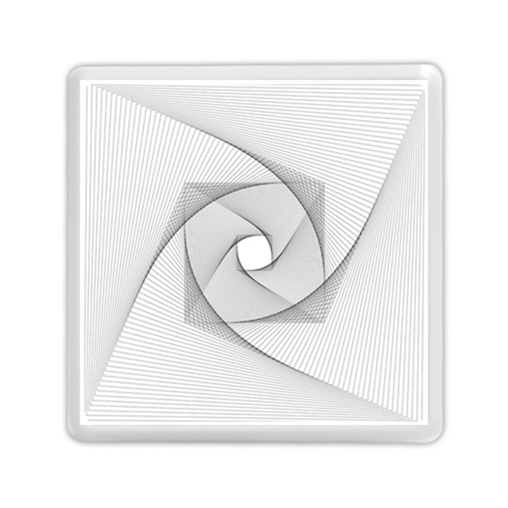 Rotation Rotated Spiral Swirl Memory Card Reader (Square)