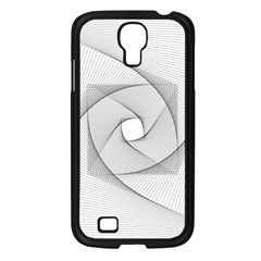 Rotation Rotated Spiral Swirl Samsung Galaxy S4 I9500/ I9505 Case (black)
