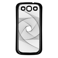 Rotation Rotated Spiral Swirl Samsung Galaxy S3 Back Case (black)