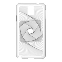 Rotation Rotated Spiral Swirl Samsung Galaxy Note 3 N9005 Case (white)