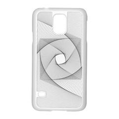 Rotation Rotated Spiral Swirl Samsung Galaxy S5 Case (white)