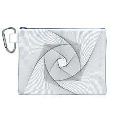 Rotation Rotated Spiral Swirl Canvas Cosmetic Bag (xl)