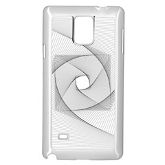 Rotation Rotated Spiral Swirl Samsung Galaxy Note 4 Case (white)