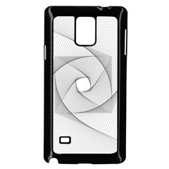 Rotation Rotated Spiral Swirl Samsung Galaxy Note 4 Case (black)