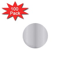 Monochrome Curve Line Pattern Wave 1  Mini Buttons (100 Pack)