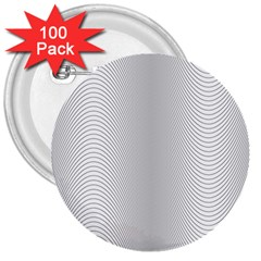 Monochrome Curve Line Pattern Wave 3  Buttons (100 Pack)