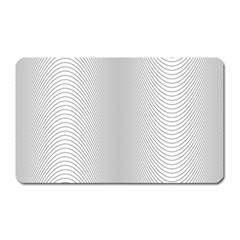 Monochrome Curve Line Pattern Wave Magnet (rectangular)