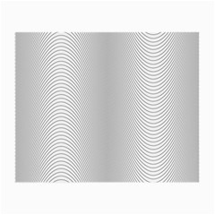 Monochrome Curve Line Pattern Wave Small Glasses Cloth