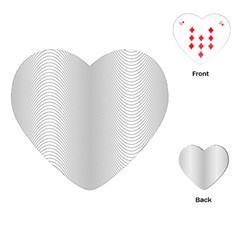Monochrome Curve Line Pattern Wave Playing Cards (heart)