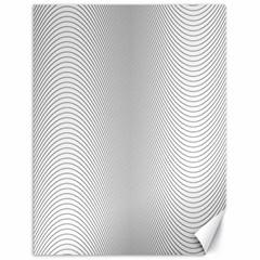 Monochrome Curve Line Pattern Wave Canvas 18  X 24