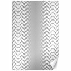 Monochrome Curve Line Pattern Wave Canvas 24  X 36
