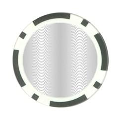 Monochrome Curve Line Pattern Wave Poker Chip Card Guard