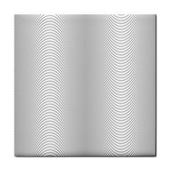 Monochrome Curve Line Pattern Wave Face Towel