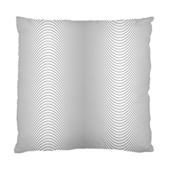 Monochrome Curve Line Pattern Wave Standard Cushion Case (two Sides)