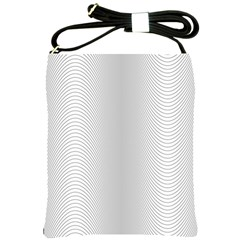 Monochrome Curve Line Pattern Wave Shoulder Sling Bags