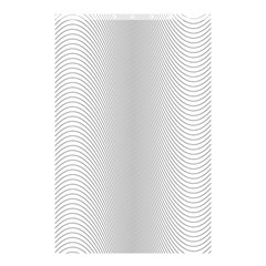 Monochrome Curve Line Pattern Wave Shower Curtain 48  X 72  (small)