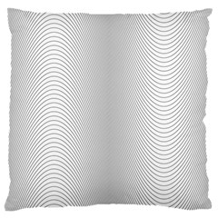 Monochrome Curve Line Pattern Wave Large Cushion Case (one Side)