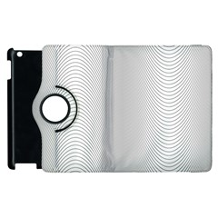Monochrome Curve Line Pattern Wave Apple Ipad 3/4 Flip 360 Case