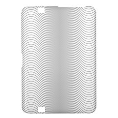 Monochrome Curve Line Pattern Wave Kindle Fire Hd 8 9