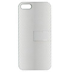 Monochrome Curve Line Pattern Wave Apple Iphone 5 Hardshell Case With Stand