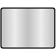 Monochrome Curve Line Pattern Wave Double Sided Fleece Blanket (large)