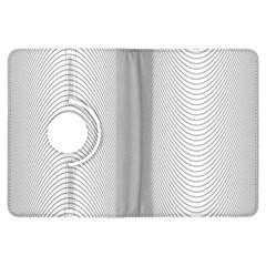 Monochrome Curve Line Pattern Wave Kindle Fire Hdx Flip 360 Case