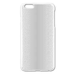 Monochrome Curve Line Pattern Wave Apple Iphone 6 Plus/6s Plus Enamel White Case