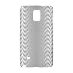 Monochrome Curve Line Pattern Wave Samsung Galaxy Note 4 Hardshell Case