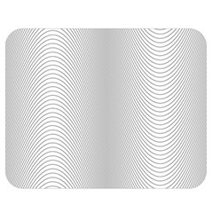 Monochrome Curve Line Pattern Wave Double Sided Flano Blanket (medium)