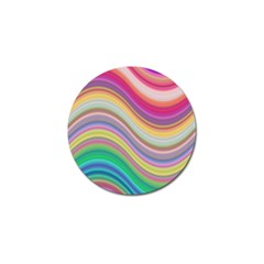 Wave Background Happy Design Golf Ball Marker (10 Pack)