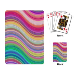 Wave Background Happy Design Playing Card
