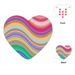 Wave Background Happy Design Playing Cards (heart)