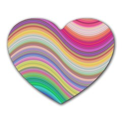 Wave Background Happy Design Heart Mousepads