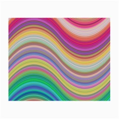 Wave Background Happy Design Small Glasses Cloth (2 Side)