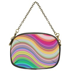 Wave Background Happy Design Chain Purses (one Side)