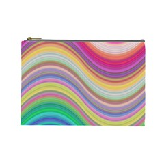 Wave Background Happy Design Cosmetic Bag (large)