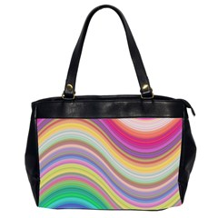 Wave Background Happy Design Office Handbags (2 Sides)