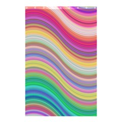 Wave Background Happy Design Shower Curtain 48  X 72  (small)