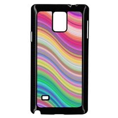 Wave Background Happy Design Samsung Galaxy Note 4 Case (black)