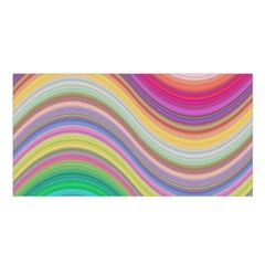 Wave Background Happy Design Satin Shawl