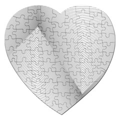 Background Pattern Stripe Jigsaw Puzzle (heart)