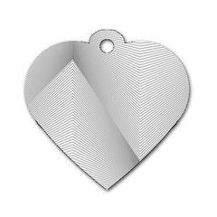 Background Pattern Stripe Dog Tag Heart (two Sides)