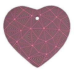 Triangle Background Abstract Ornament (heart)