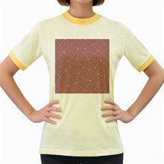 Triangle Background Abstract Women s Fitted Ringer T Shirts