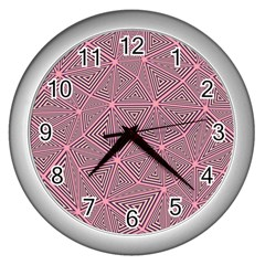 Triangle Background Abstract Wall Clocks (silver)