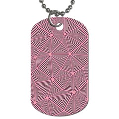 Triangle Background Abstract Dog Tag (one Side)