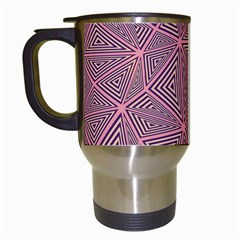 Triangle Background Abstract Travel Mugs (white)