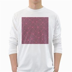 Triangle Background Abstract White Long Sleeve T Shirts
